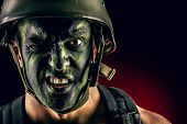 stock photo of special forces  - Close - JPG