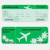 picture of boarding pass  - Airline boarding pass - JPG