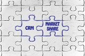 picture of customer relationship management  - matching jigsaw puzzle pieces metaphor - JPG