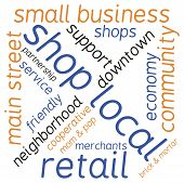 pic of local shop  - Shop local word cloud on a white background - JPG