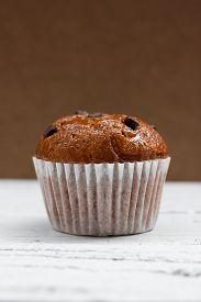 pic of chocolate muffin  - Homemade Chocolate chip muffin - JPG