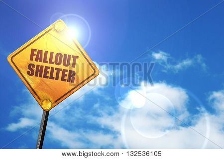 fallout shelter 3D rendering glowing