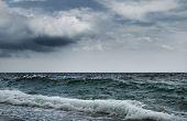 Постер, плакат: Большой океан волны разорвать берега