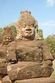 foto of asura  - the entrance of angkor thom on the bridge with asura statue - JPG