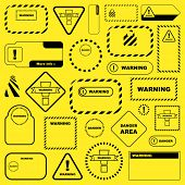 picture of safety barrier  - Warning signs - JPG