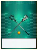 Lacrosse Tournament Template Flyer poster