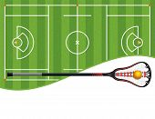 Lacrosse Field And Stick Illustration poster