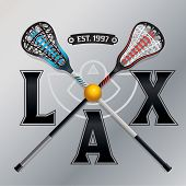 Lacrosse Lax Emblem Illustration poster