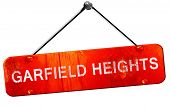 ������, ������: garfield heights 3D rendering a red hanging sign