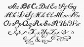 Calligraphy Alphabet Typeset Lettering. poster