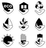 Постер, плакат: Set Of Ecology Icons