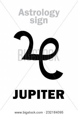 Astrology Alphabet Jupiter iuppiter Classic