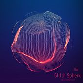 Vector Abstract Sphere Of Particles, Points Array. Futuristic Vector Illustration. Technology Digita poster
