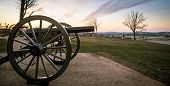 Cannons At Sunrise From The Civil War In Gettysburg poster