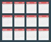 2018 Year Calendar, Calendar Design For 2018 Starts Sunday poster