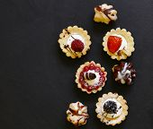 Mini Dessert Tarts Sweet Pastries For The Holiday poster