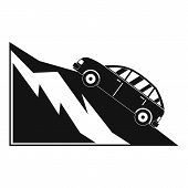 Mountain Accident Icon. Simple Illustration Of Mountain Accident Vector Icon For Web poster