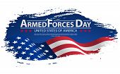 Armed Forces Day Template Poster Design. Vector Illustration Background For Armed Forces Day. Vector poster