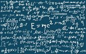 Blackboard Inscribed With Scientific Formulas And Calculations In Physics And Mathematics. Can Illus poster