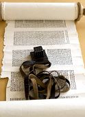 pic of phylacteries  - Torah with Tefillin  - JPG