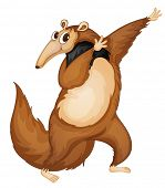 stock photo of ant-eater  - Illustration of a comical anteater  - JPG