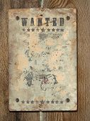 stock photo of wrangler  - Wild West styled poster - JPG