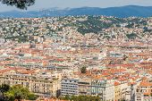 Nice Cote D Azur. France. June 20 2019. An Elevated View Of Nice In Cote D Azur In France poster