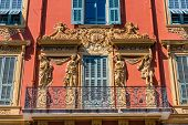 Nice Cote D Azur. France. June 20 2019. A View Of Local Colourful Architecture In Nice In Cote D Azu poster