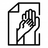Hand Of An Adult And A Child Icon. Outline Hand Of An Adult And A Child Vector Icon For Web Design I poster