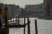 Venice, Italy, Europe: View Of Accademia Bridge And Grand Canal, Seen From Punta Della Dogana poster