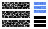 Database Composition Of Spheric Dots In Variable Sizes And Color Tints, Based On Database Icon. Vect poster