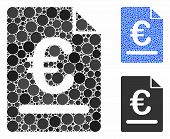 Euro Invoice Composition Of Filled Circles In Variable Sizes And Shades, Based On Euro Invoice Icon. poster