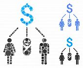 Family Budget Composition Of Small Circles In Different Sizes And Color Tinges, Based On Family Budg poster