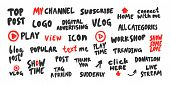Top, Post, Channel, Logo, Vlog, Live, Stream, Online, Icon, Text, Show, Time, Home, Love, Connect, D poster
