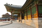 Changdeokgung Palace. Palace Building In Seoul, South Korea. An Example Of Korean Architecture poster