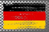 German National Flag Isolated Vector Illustration. Travel Map Design Graphic Element. World County S poster