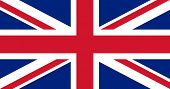Illustration of British Union Jack national country flag.
