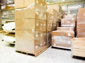 Blur Warehouse Background, Blurred Store Factory, Industry Warehouse Space And Hardware Box For Deli poster