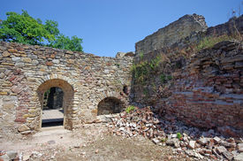 image of suceava  - Room ruins in Suceava fortress medieval construction - JPG