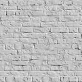 White Brick Wall Seamless Texture.