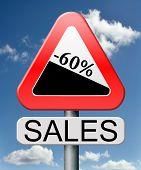 sale 60% off winter off for summer sales text on road sign concept for online web shop internet shop