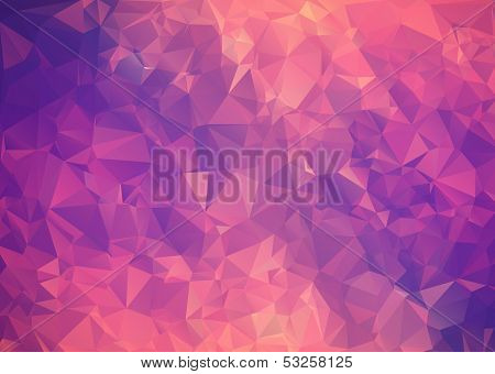 Purple pink abstract background polygon. poster