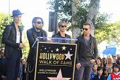 LOS ANGELES - OCT 30: Perry Farrell, Stephen Perkins, Chris Chaney, Dave Navarro at a ceremony where
