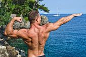 Muscular Young Bodybuilder Outdoors
