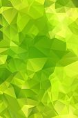 Green abstract background polygon.
