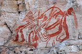 Aboriginal rock art at Ubirr, Kakadu National Park, Northern Territory, Australia