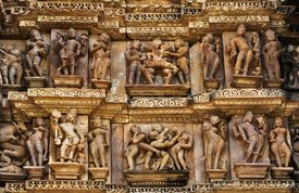 picture of kamasutra  - Erotic Sculptures at Vishvanatha Temple  - JPG