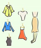 sketched ladies wardrobe