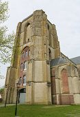 pic of veer  - Old Church of the beautiful town of Veere close to Middelburg Zeeland The Netherlands - JPG