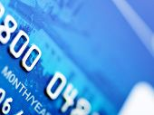 Credit card macro. Shallow depth of focus